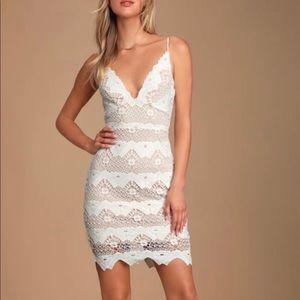 Lulu's White Lace Strap Dress